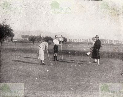 Torino Golf Club, Italy. Putting on the Mirafiori course.