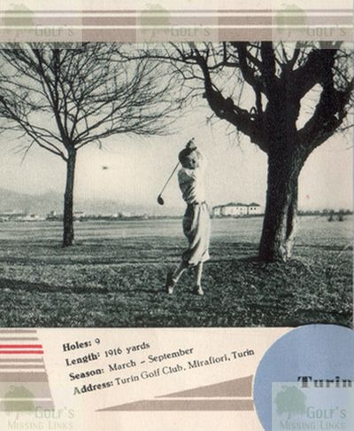Torino Golf Club, Italy. View of the earlier course.