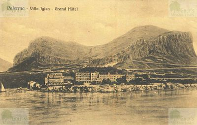 Villa Igiea Golf Links, Mondello. Postcard from the Christoph Meister collection.