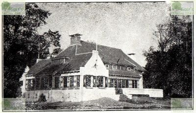 Clingendael - Haagsche Golf Club. Clubhouse and course from Guide de Plumon 1931.