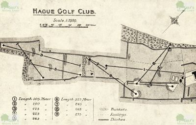 Clingendael - Haagsche Golf Club, Netherlands. A plan of the earlier nine-hole course.