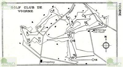 Oostvorne Golf Links. Layout of the course 1931.