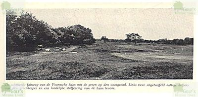 Oostvorne Golf Links. View of the course 1938.