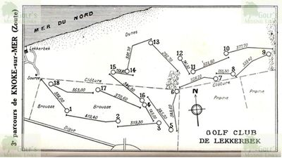 Lekkerbek Golf Course. Layout of the golf course 1931.