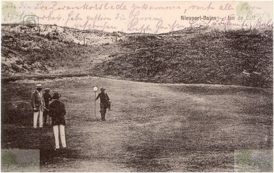 Lombartzyde Golf Club. Postcard showing the course in 1915.