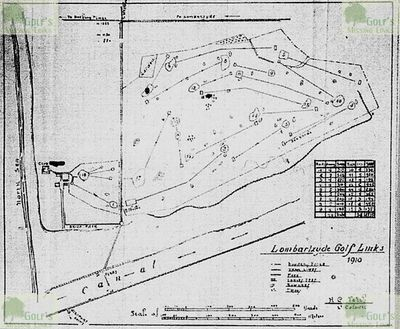 Lombartzyde Golf Club. Layout of the course in 1910.