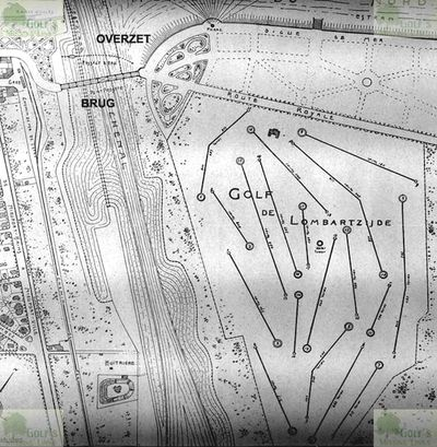 Lombartzyde Golf Club. Layout of the course in 1930.