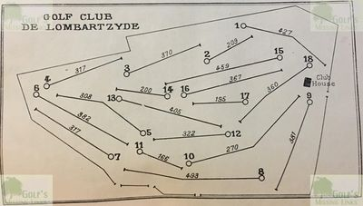 Lombartzyde Golf Club. Layout of the course in 1931.
