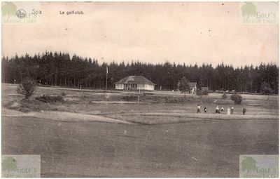 Spa Golf Club, Province of Liège. Postcard showing the Sart golf course in 1915.