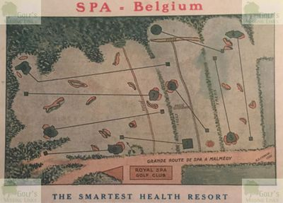 Spa Golf Club, Province of Liège. Layout of the Malchamps course c1920.