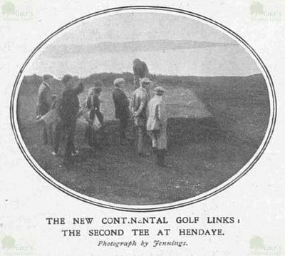 Hendaye (Abbadia) Golf Club, Pyrénées-Atlantiques. Images from The Sketch July 1913.