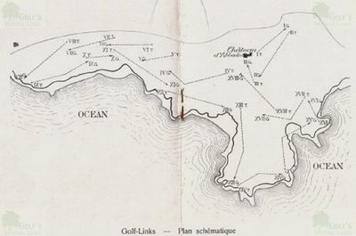 Hendaye (Abbadia) Golf Club, Pyrénées-Atlantiques. Layout of the course in 1911.