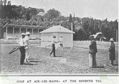 Aix-les-Bains Golf Club, Savoie. Images from The Sketch January 1913.