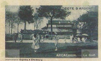 Arcachon Golf Club. The course in the 1920?