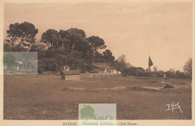 Hyères - Costebelle Golf Club, Var. Clubhouse and course.