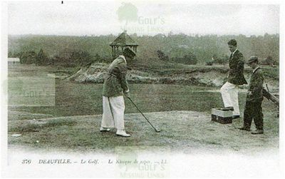 Deauville Golf Club, Calvados. Players on the tee.