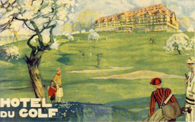 "Deauville ""New"" Golf Club, Calvados. Deauville Hotel du Golf before WW2."
