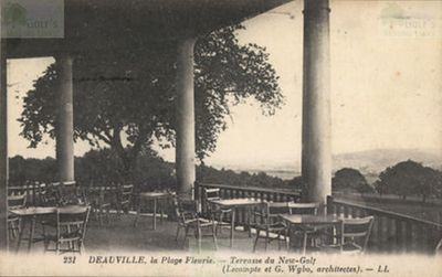 "Deauville ""New"" Golf Club, Calvados. Terrace du New Golf before WW2."
