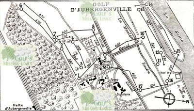 Aubergenville Country Club (Elizabethville G C) (78). Golf course layout.