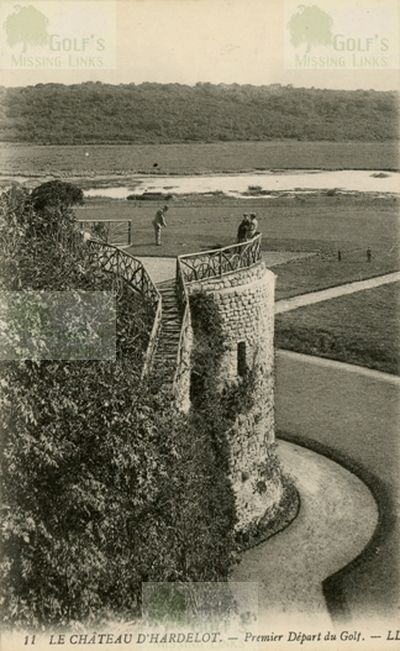 Hardelot Golf Club, Pas-de-Calais. The first tee on the tower.