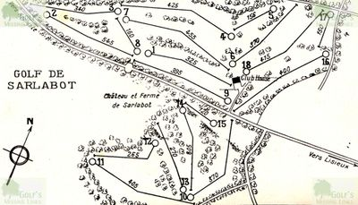 Houlgate Sarlabot Golf Club, Calvados. Layout of the 18-hole course.