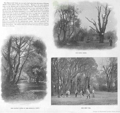 Hyères - Les Palmiers Golf Club, Var. Article from The Illustrated Sporting and Dramatic News in June 1899.