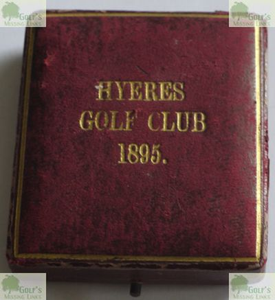 Hyères - Les Palmiers Golf Club, Var. Ladies Doubles medal played for in 1895.