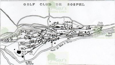 Menton/Sospel Golf Club, Alpes-Maritime. Course layout.