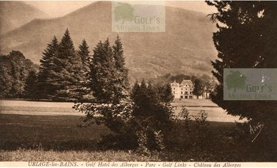 Uriage Golf Club, Isère (38), France. View of the Hotel and course.
