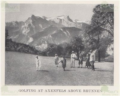 Axenfels Golf Club, Switzerland. On the golf course in 1931.