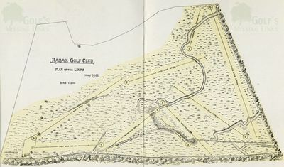 Bad Ragaz Golf Club, Switzerland. Layout of the golf course in 1905.