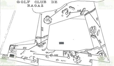 Bad Ragaz Golf Club, Switzerland. Layout of the golf course in 1928.