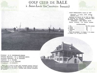 Basel Golf Club, Switzerland. Course Guide 1929.
