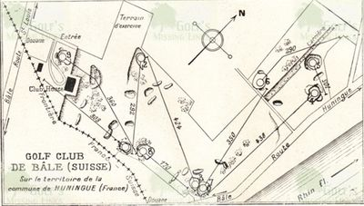 Basel Golf Club, Switzerland. Course layout 1931.