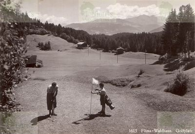 Flims Golf Club. On the course.