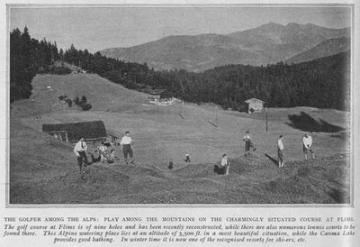 Flims Golf Club, Switzerland. Illustrated Sporting Dramatic News July 1930.