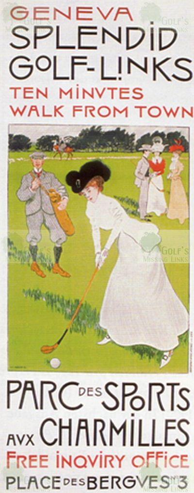 Genève Golf Club. Early advert for the club.