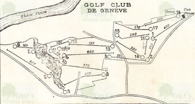 Genève Golf Club. Layout of the course.