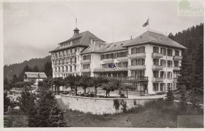 Les Rasses Golf Club. Postcard of the Hotel from 1954.