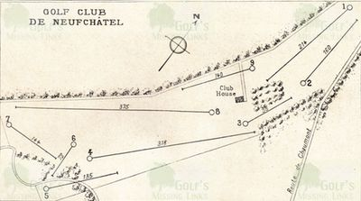 Neuchâtel Golf Club, Switzerland. Earlier course layout.