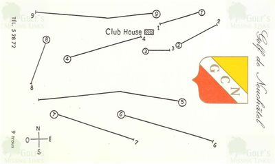 Neuchâtel Golf Club, Switzerland. Course layout in 1961.