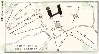 Salines de Bex Golf Club. Course layout.