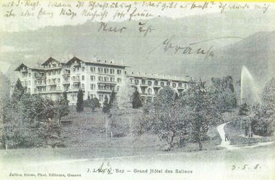 Salines de Bex Golf Club, Switzerland. The Grand Hotel.