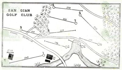 San Gian Golf Club. Course layout.