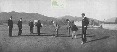 San Remo Golf Club, Switzerland. Golfers on the Arma di Taggia course in c1903.