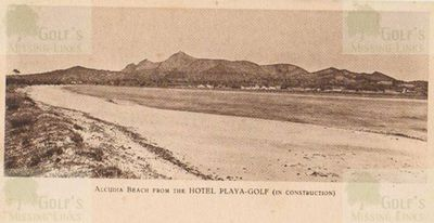 The beach from the Alcudia Golf Club course.