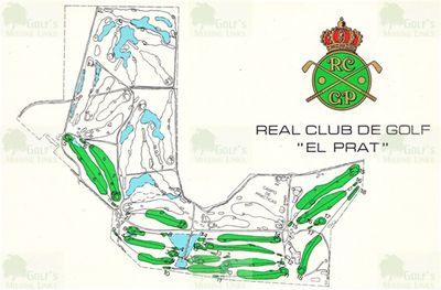 El Prat Golf Club, Barcelona. Course layout 1988.