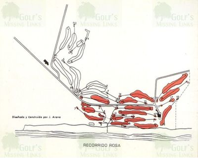 El Prat Golf Club, Barcelona. Scorecard course plan.