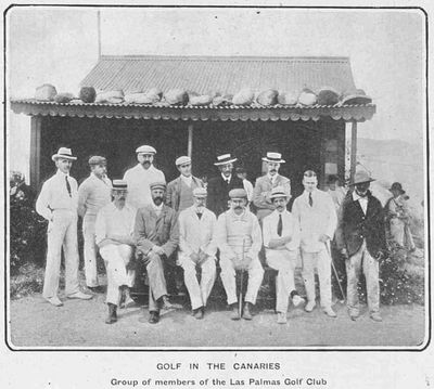 Las Palmas Golf Club, Canary Islands. Article from The Tatler December 1904.