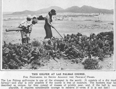 Las Palmas Golf Club, Canary Islands. Article from The Sketch in March 1932.